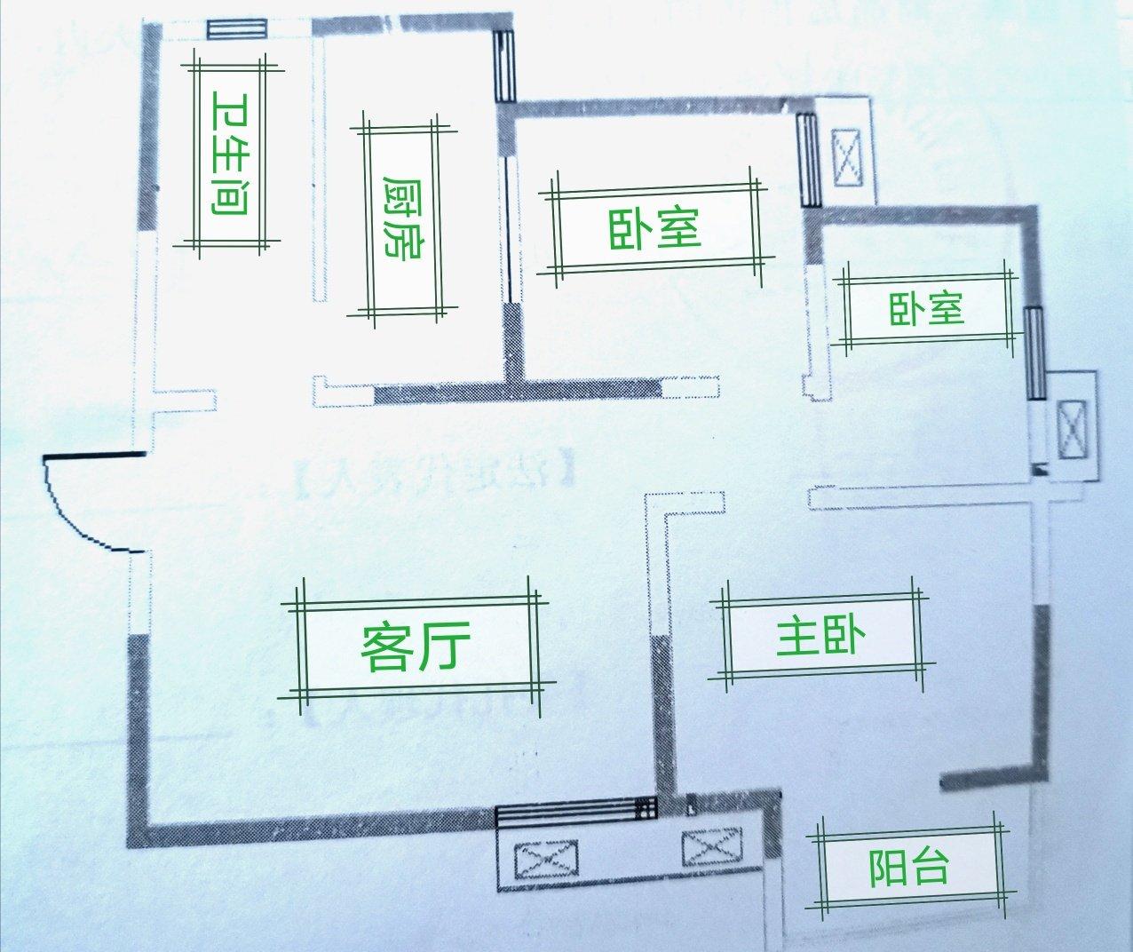 这是我家户型平面图建筑面积91.85m