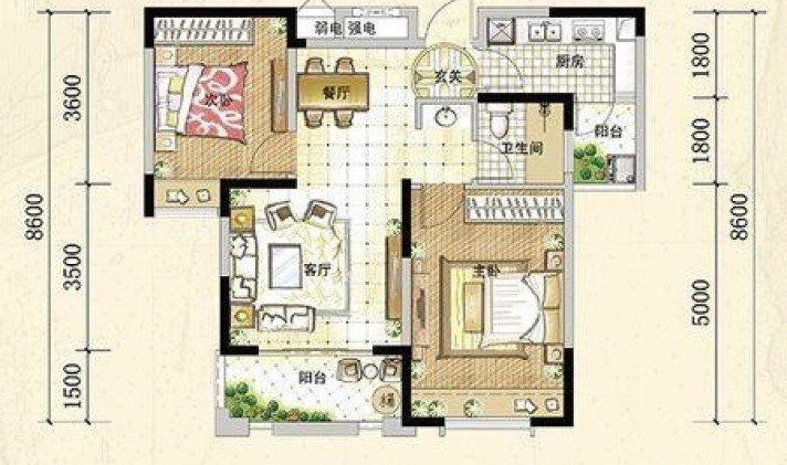 小户型83平,楼上有个斜顶阁楼,请问这种户型,想厨房大,怎么改造