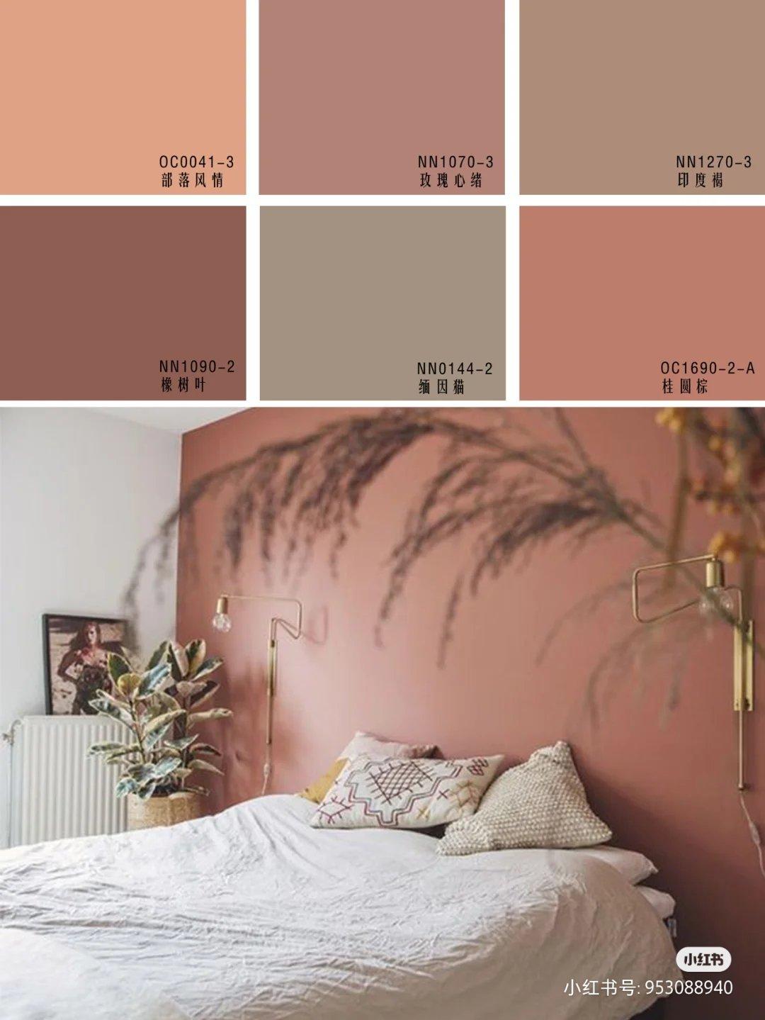 这种颜色背景墙搭配什么颜色柜子家具好看?
