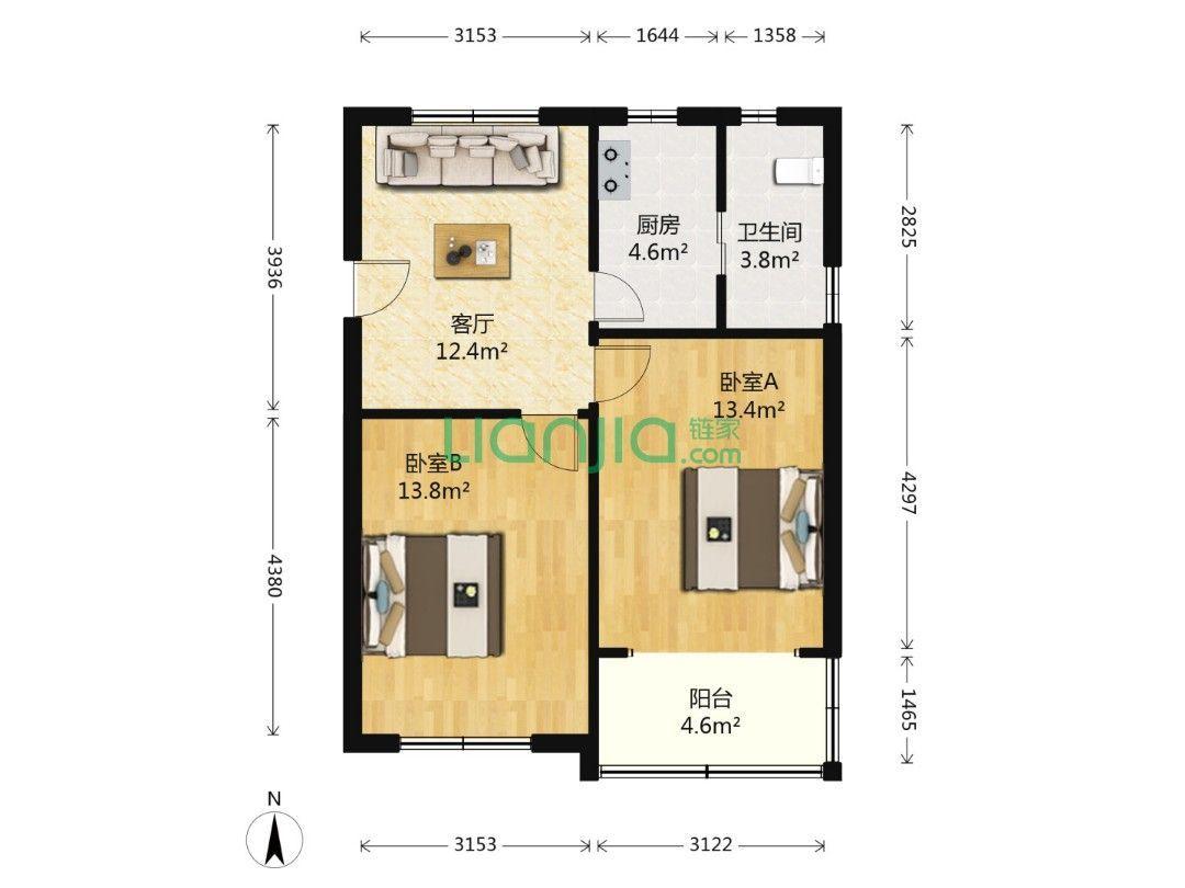 这种户型老房翻新需要多少钱?多长时间?想重新设计下,是全包划算,还是半包?