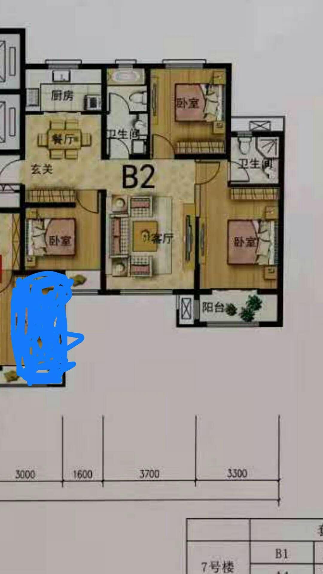 三室两厅两卫如何做隔断,便于出租