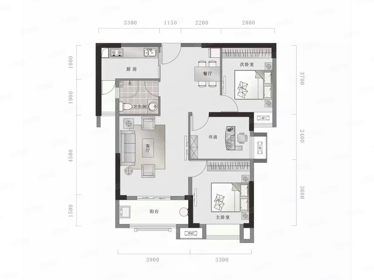 求改造设计,客厅与餐厅错位空间显得特别小,求师傅怎么样改进一下客厅与餐厅的空间