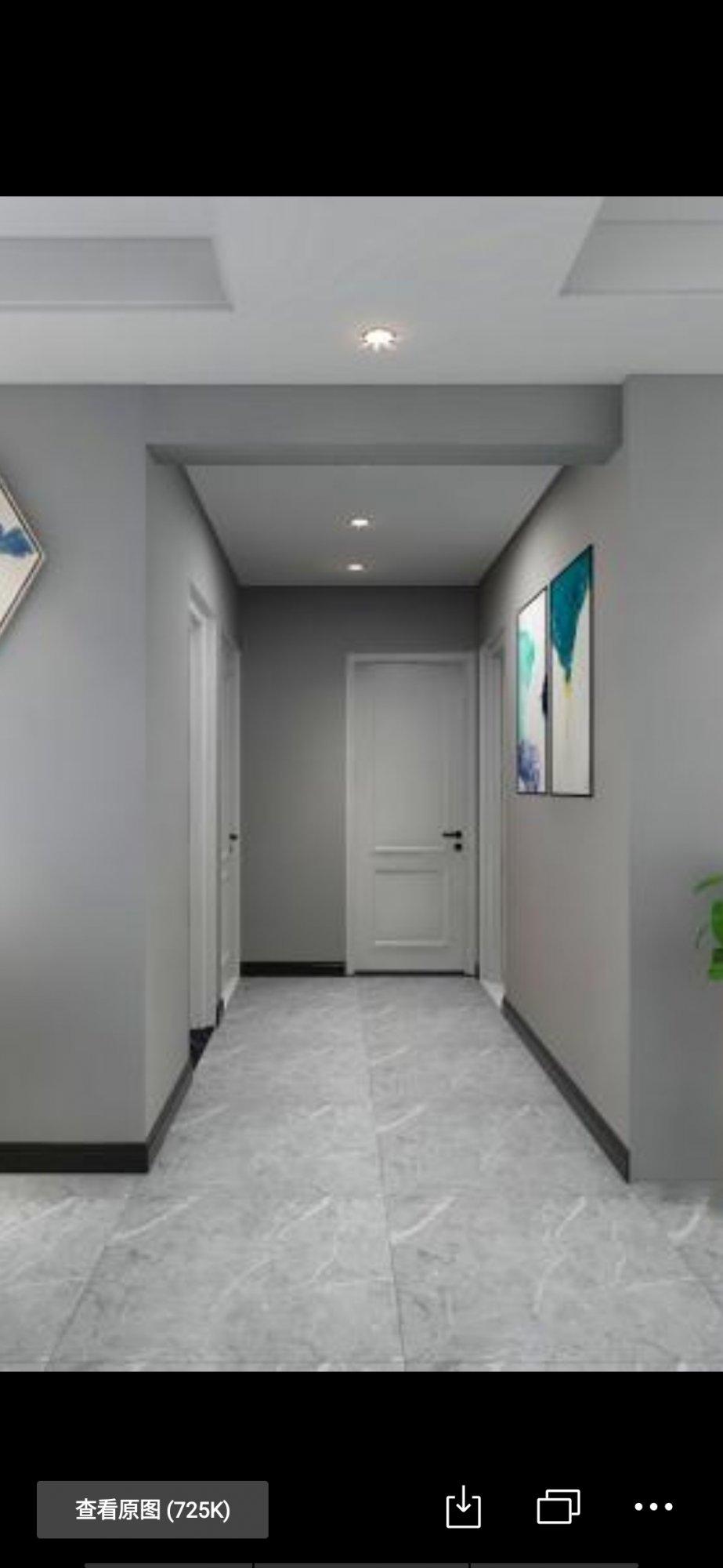 走廊宽1.6米,主卧门在顶头,布局不合理,求改造办法?