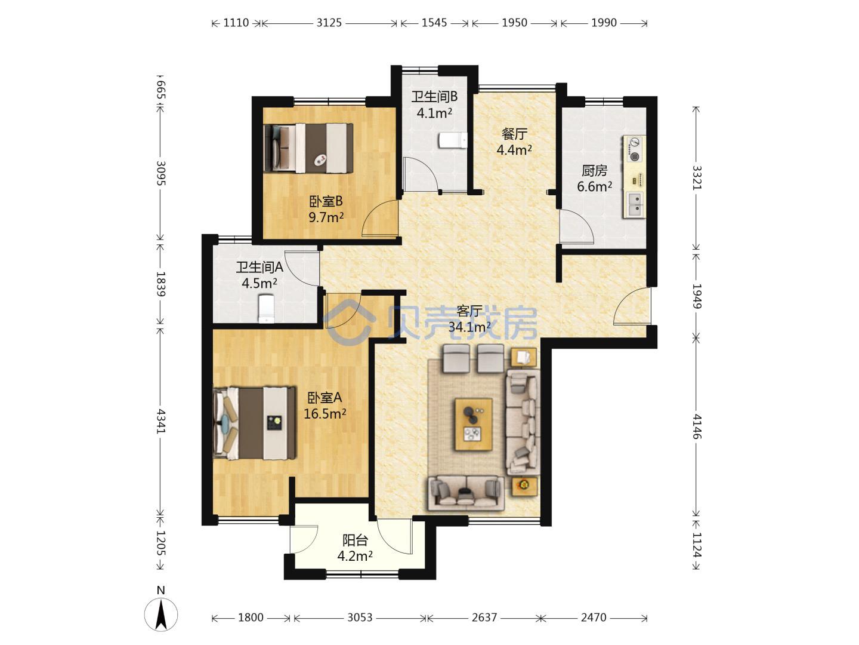 求助!准备买房,帮忙看看这个户型怎么样!