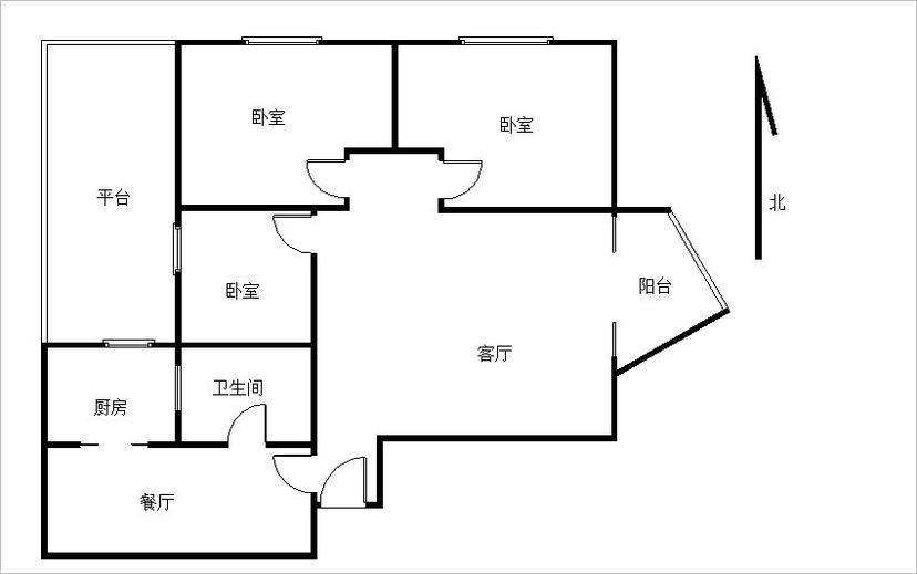 怎样能把我的这个户型的厨房卫生间设计好?平台从厨房开个门。