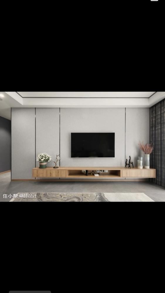 墙面整体用的浅灰色乳胶漆,电视背景墙想用墙布,用什么颜色墙布好看呢,