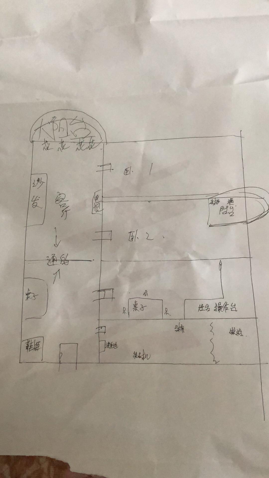 想知道怎么看设计图。这种筒子式的房子....唉