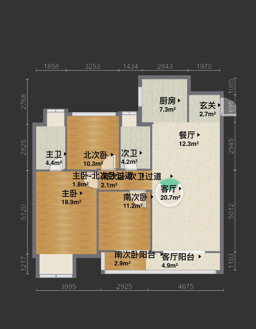 苏州吴江区建筑面积119.5平,现代极简风,全包的话大概多少?