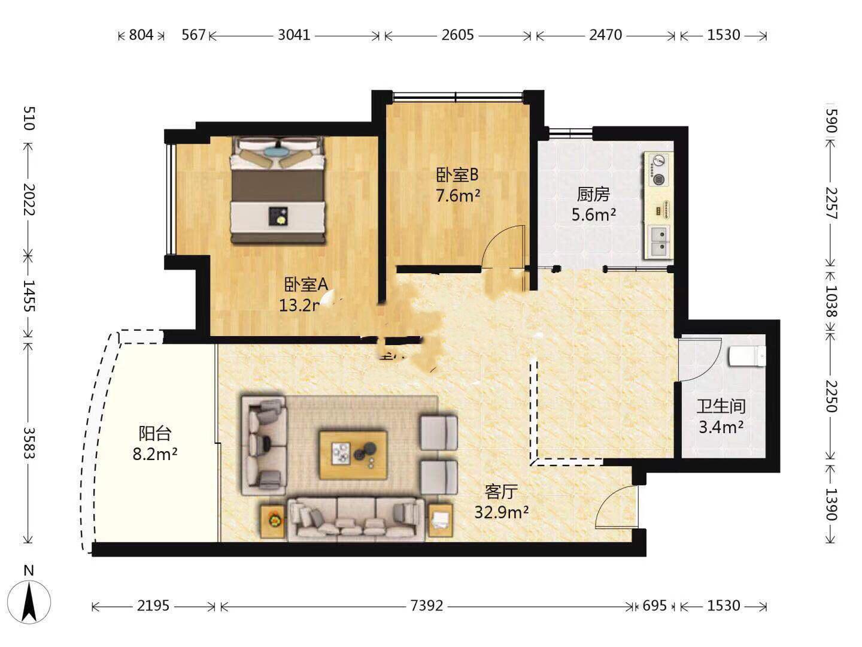 这种格式两房怎么改三房