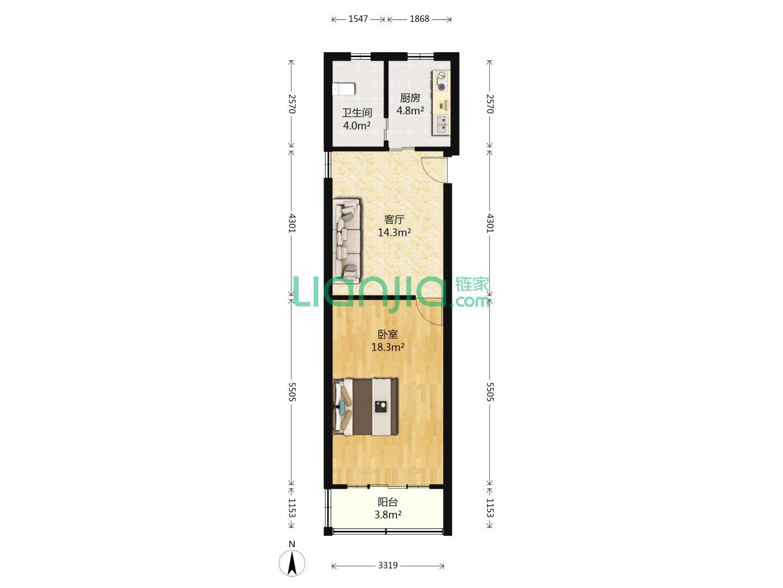 54平 一室改两室 怎么改独立门两个房间