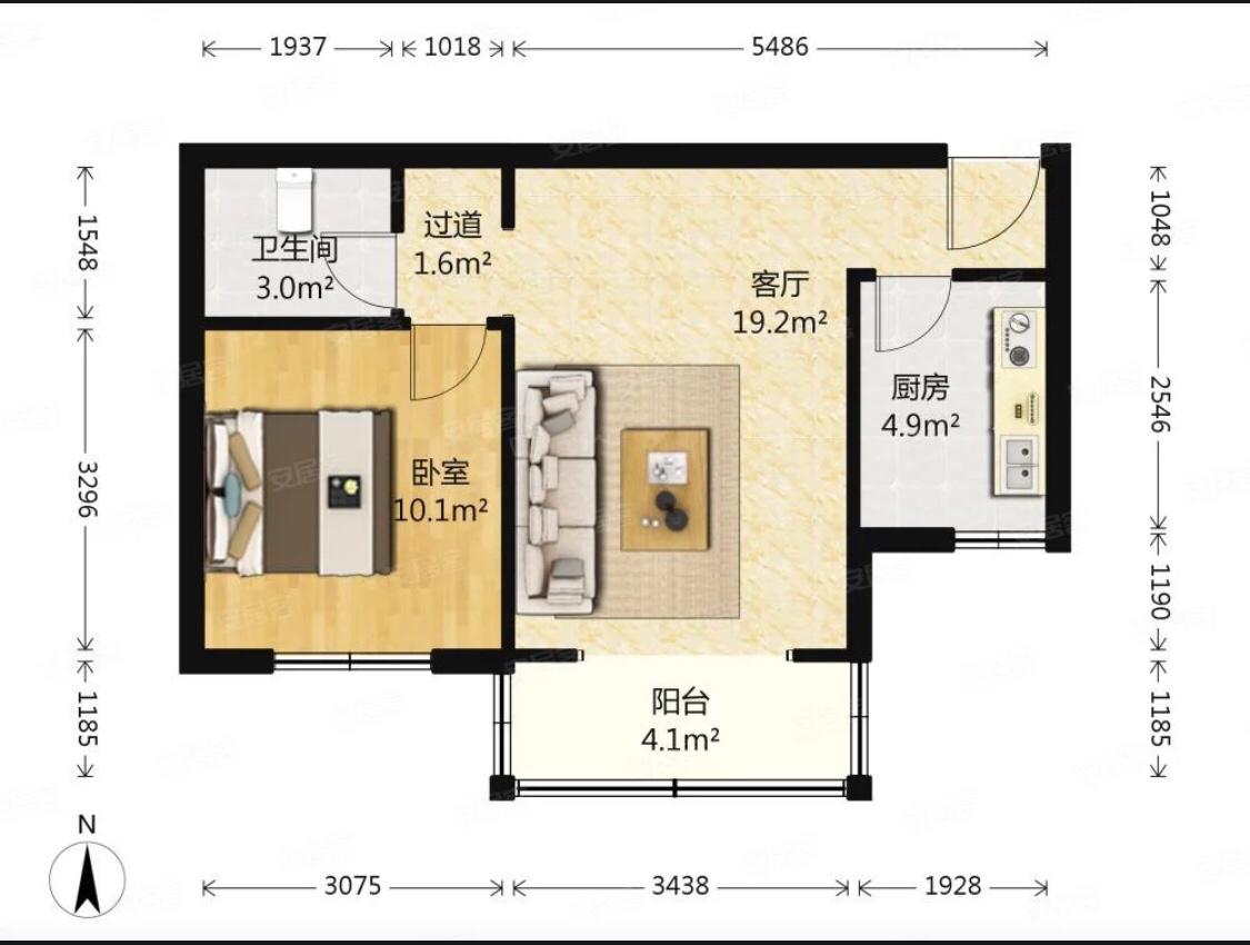 一居室改成两居怎么改比较好!