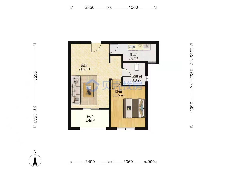 一居室如何改成2室