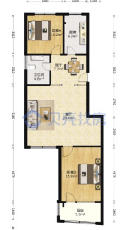 这种两房可以改三房吗