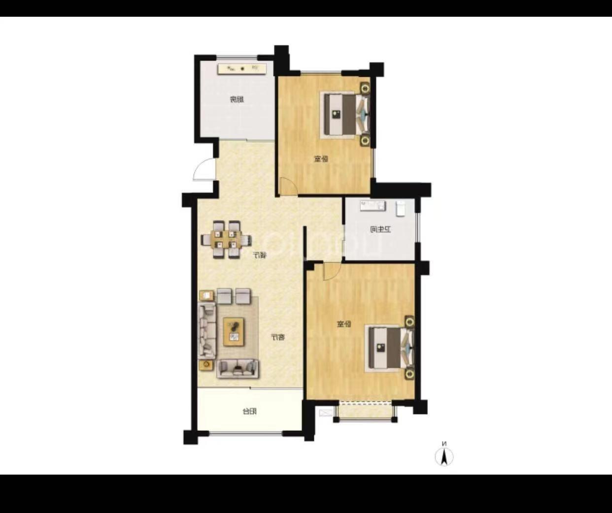这是75平的房子,客厅没有阳台,卫生间又太小了,是不是只能砌墙做一个阳台放洗衣机