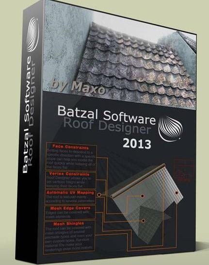 【屋顶设计布瓦插件】Batzal Roof Designer 中文版下载