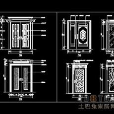 装饰门设计施工详图41个免费下载