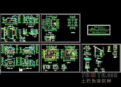 别墅建筑合集6套施工图