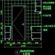 厨房实例CAD祥图19--CAD空间素材