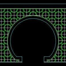 中式落地罩、中式隔断、活动式隔断、低隔断、高隔断CAD图块34--CAD图块素材