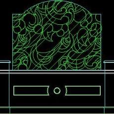 中式落地罩、中式隔断、活动式隔断、低隔断、高隔断CAD图块19--CAD图块素材