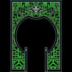 中式落地罩、中式隔断、活动式隔断、低隔断、高隔断CAD图块45--CAD图块素材