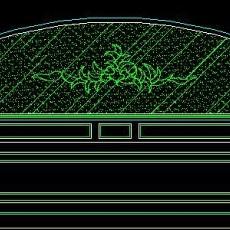 中式落地罩、中式隔断、活动式隔断、低隔断、高隔断CAD图块12--CAD图块素材