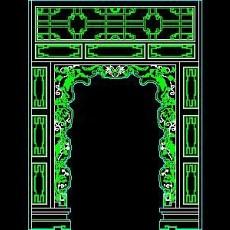中式落地罩、中式隔断、活动式隔断、低隔断、高隔断CAD图块47--CAD图块素材