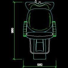 美容美发接待台、工作台装修施工图纸、cad详图素材93--CAD整体案例