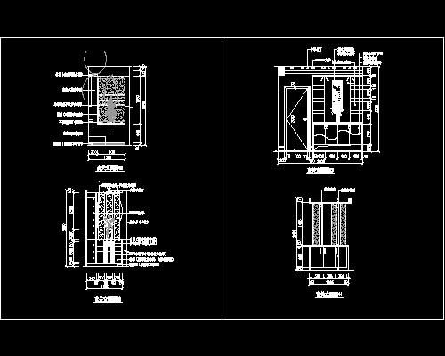 玄关,隔断装饰cad施工图7--C..施工图