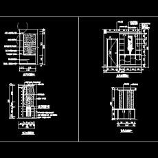 玄关,隔断装饰cad施工图7--CAD空间素材