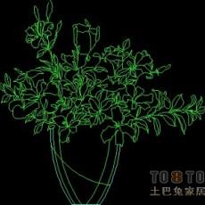 饰物陈设图纸素材004-植物31套