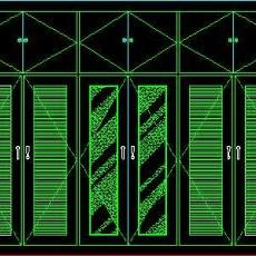 衣柜图块、床头柜CAD图块素材15--CAD空间素材
