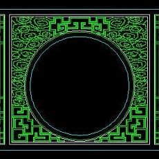 中式落地罩、中式隔断、活动式隔断、低隔断、高隔断CAD图块20--CAD图块素材