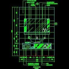 洗脸台cad图块素材13--CAD空间素材