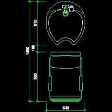 美容美发接待台、工作台装修施工图纸、cad详图素材97--CAD整体案例