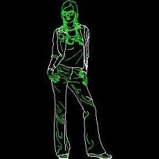 导购牌、电器类图块、服装类图块、化妆品CAD图块详图84--CAD整体案例