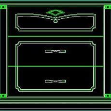 衣柜图块、床头柜CAD图块素材6--CAD空间素材