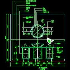 洗脸台cad图块素材17--CAD空间素材