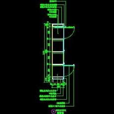 书柜CAD详图素材2--CAD空间素材