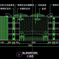 餐厅包间详图-CAD餐饮空间图纸素材第二辑10--CAD整体案例