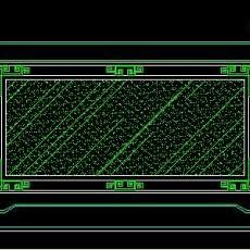 中式落地罩、中式隔断、活动式隔断、低隔断、高隔断CAD图块14--CAD图块素材