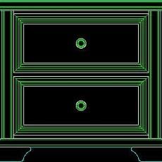 衣柜图块、床头柜CAD图块素材5--CAD空间素材
