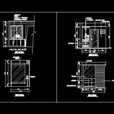 玄关,隔断装饰cad施工图22--CAD空间素材