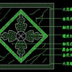 中式铺地、花街铺地、石材拼花CAD图块56--CAD图块素材