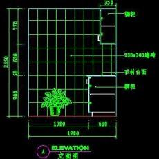 厨房实例CAD祥图1--CAD空间素材