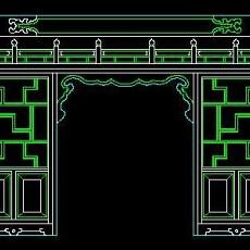 中式落地罩、中式隔断、活动式隔断、低隔断、高隔断CAD图块39--CAD图块素材