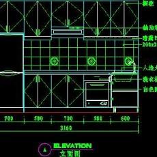 厨房实例CAD祥图16--CAD空间素材
