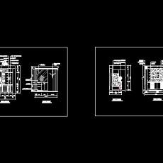 玄关,隔断装饰cad施工图18--CAD空间素材