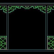 中式落地罩、中式隔断、活动式隔断、低隔断、高隔断CAD图块33--CAD图块素材