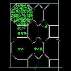 中式铺地、花街铺地、石材拼花CAD图块3--CAD图块素材